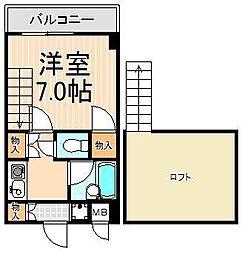 KFビル[612号室]の間取り