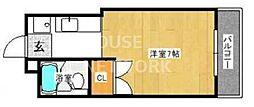 第11パールハイツフレール蘭(パールハイツ一乗寺)[4A号室号室]の間取り
