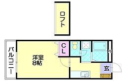 ルート門松駅IIB[1階]の間取り