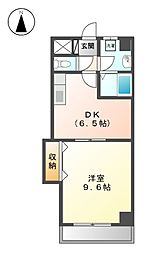 レジデンス黒龍[5階]の間取り