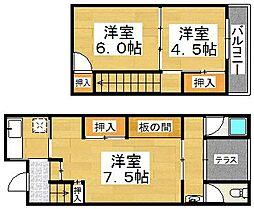 [タウンハウス] 大阪府堺市堺区香ヶ丘町4丁 の賃貸【/】の間取り