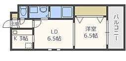 レジディア天神[3階]の間取り