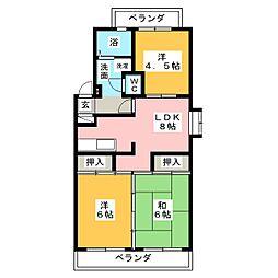 リトルタウン福塚[3階]の間取り