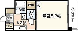ラードクルーセ[3階]の間取り