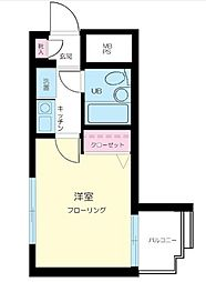 東京都大田区矢口2の賃貸マンションの間取り