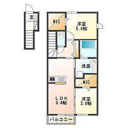 仮)太寺大野町D-room[2階]の間取り