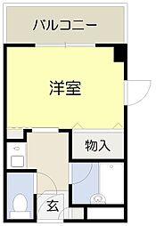 ベルビューレ千里山壱番館[307号室]の間取り