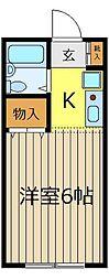 YK2913[102号室]の間取り