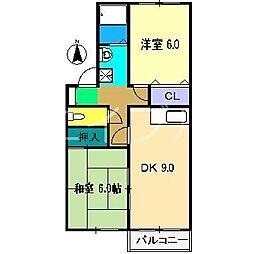 セジュール妙見 A棟[2階]の間取り