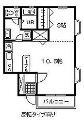 アーバンライフ5番館[202号室]の間取り