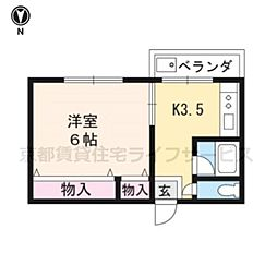 コーポ福島[102号室]の間取り