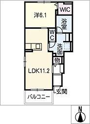 カナール・ソバージュ[1階]の間取り