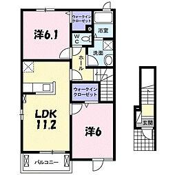 セブンハイツ南Ⅱ[2階]の間取り