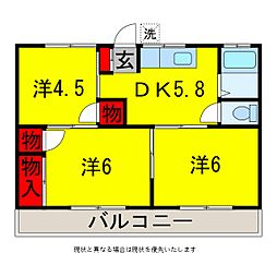 五十嵐コーポ[1階]の間取り