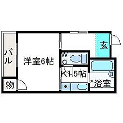 二宮マンション[2階]の間取り