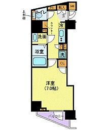 東京メトロ丸ノ内線 西新宿駅 徒歩5分の賃貸マンション 12階1Kの間取り