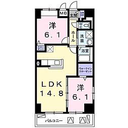 畑田町店舗付マンション[0401号室]の間取り