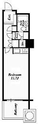 六本木ヒルズレジデンス 6階ワンルームの間取り