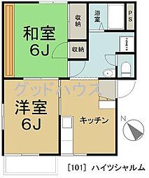 神奈川県横浜市戸塚区吉田町の賃貸アパートの間取り