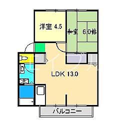 イチゴハイツI A棟[1階]の間取り