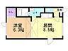 間取り,1DK,面積34.39m2,賃料5.0万円,バス くしろバス豊川町9番地下車 徒歩1分,,北海道釧路市愛国西2丁目5番13号