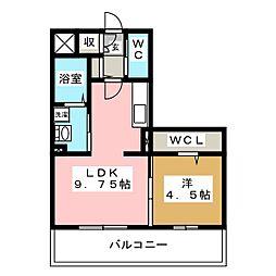 ロイヤルエストIII[1階]の間取り