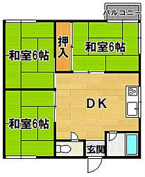 マイショップ三田 2階3DKの間取り