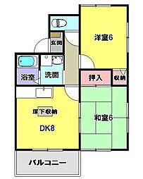 パークハイム今寺[1階]の間取り