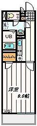 埼玉新都市交通 原市駅 徒歩12分の賃貸マンション 3階1Kの間取り