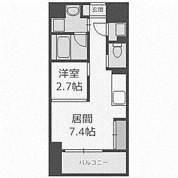 北海道札幌市厚別区厚別中央四条4丁目の賃貸マンションの間取り