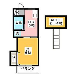 フォーブル城[1階]の間取り