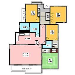 アパート[1階]の間取り