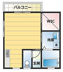 メゾン和泉[201号室]の間取り
