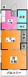 栄コーポ[1階]の間取り