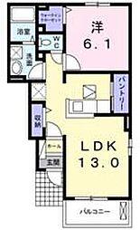 ミルト西新浜II[1階]の間取り