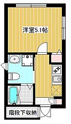 カモミールNkano[102号室]の間取り