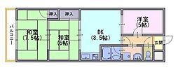 エクセル山崎[2階]の間取り
