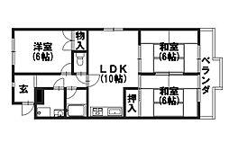 ニューシャトー長岡[110号室]の間取り