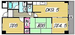 フレアコートコスモ[4階]の間取り
