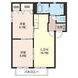 ボナールA[1階]の間取り