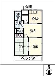 グリーンスクウェアG[2階]の間取り