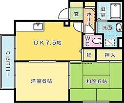湯川桜荘[2階]の間取り