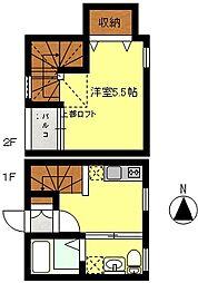先行舎弐号[1階]の間取り