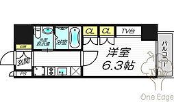 レジュールアッシュプレミアムツインI[13階]の間取り
