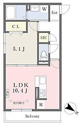 小田急小田原線 伊勢原駅 徒歩6分の賃貸アパート 2階1LDKの間取り