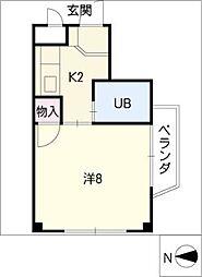 タウンハイツ松原[3階]の間取り