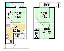 JR山陰本線 丹波口駅 徒歩11分 3Kの間取り