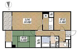 昭島コートエレガンスC[2階]の間取り