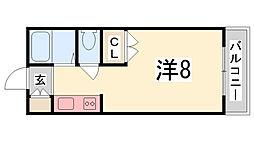 ジュネス船橋[602号室]の間取り