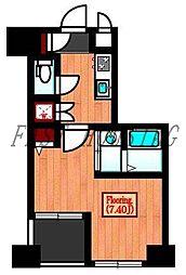 JR総武線 千駄ヶ谷駅 徒歩4分の賃貸マンション 3階1Kの間取り